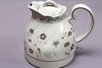 Чайник из костяного фарфора объемом 1 л с ситечком